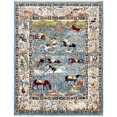 Figuig Blue/Ivory Area Rug Rug Size: Rectangle 8 x 10
