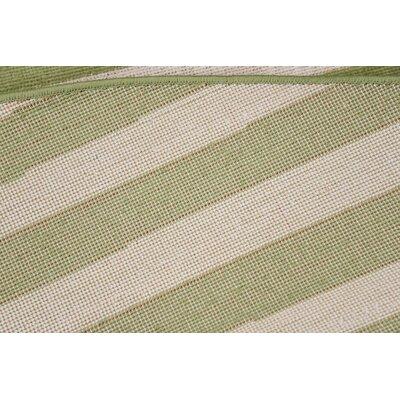 Brendan Green/Beige Area Rug Rug Size: Round 8