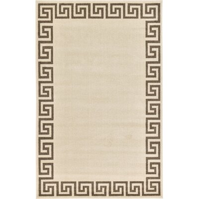 Champney Beige Area Rug Rug Size: 5 x 8