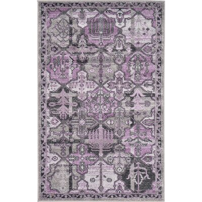 Irma Traditional Purple Area Rug Rug Size: 33 x 53