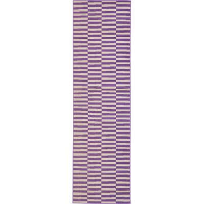 Braxton Purple Area Rug Rug Size: Runner 29 x 910