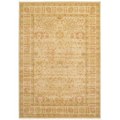 Fonciere Beige Area Rug Rug Size: Rectangle 7 x 10