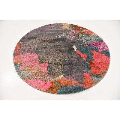 Cherry Street Pink Area Rug Rug Size: Round 6 x 6