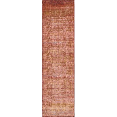 Brown/Orange/Pink Area Rug Rug Size: 3 x 10