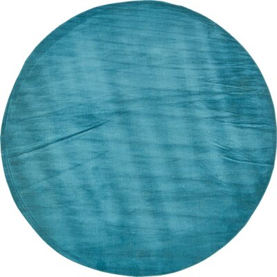 Bayswater Teal Area Rug Rug Size: Round 8
