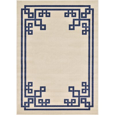 Ellery Beige Area Rug Rug Size: Rectangle 7 x 10