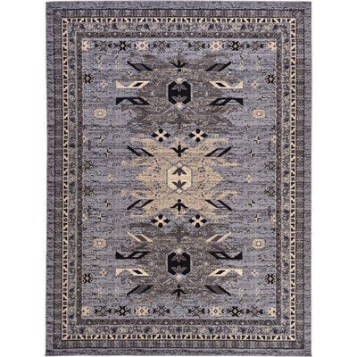 Valley Gray Area Rug Rug Size: 910 x 13