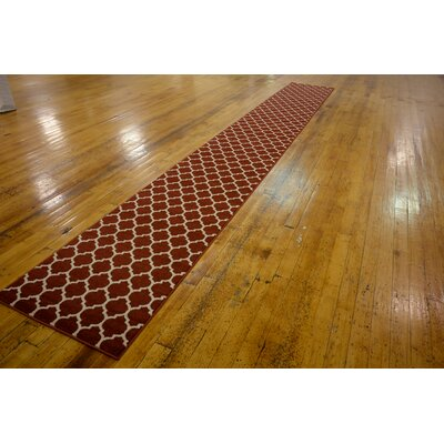 Moore Red Area Rug Rug Size: 10 x 14