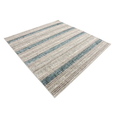 Brayden Beige/Blue Area Rug Rug Size: Square 6