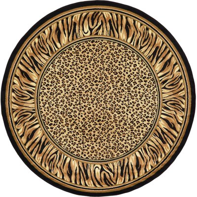 Leif Light Brown Area Rug Rug Size: Round 8