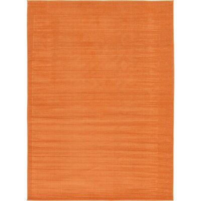 Risley Orange Area Rug Rug Size: 7 x 10