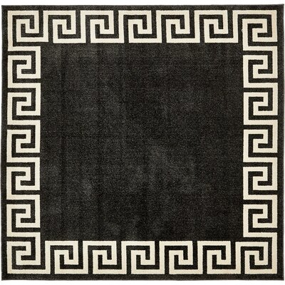 Cendrillon Charcoal Area Rug Rug Size: Rectangle 8 x 8