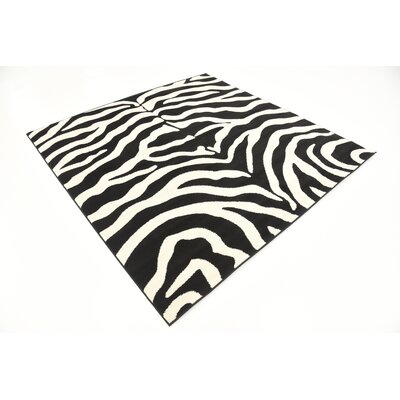 Leif Black Area Rug Rug Size: Square 6