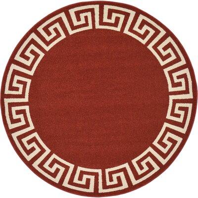 Cendrillon Terracotta Area Rug Rug Size: Round 6
