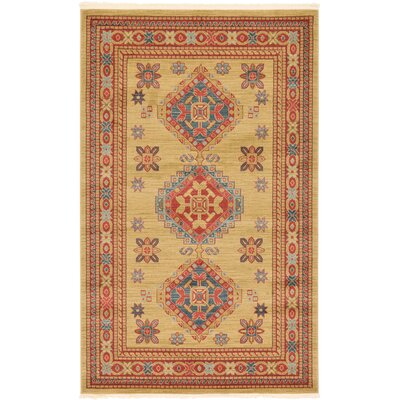 Valley Light Brown Area Rug Rug Size: 5 x 8