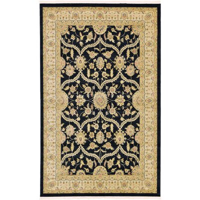 Britley Black Area Rug Rug Size: Rectangle 5 x 8