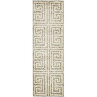 Ellery Geometric Gray Area Rug Rug Size: 3 x 6