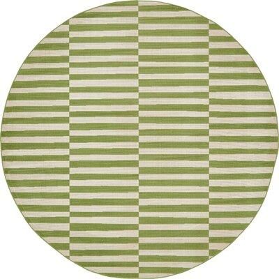 Braxton Green Area Rug Rug Size: Round 8