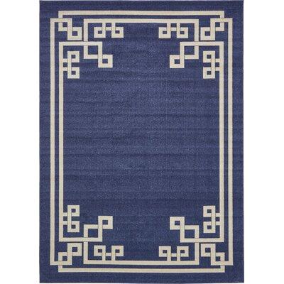 Ellery Dark Blue Area Rug Rug Size: 9 x 12