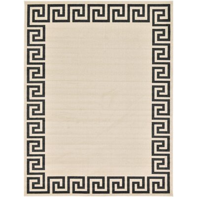 Ellery Beige/Black Area Rug Rug Size: Rectangle 9 x 12