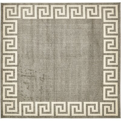 Cendrillon Gray Area Rug Rug Size: Square 8