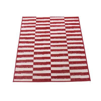 Braxton Red/White Area Rug Rug Size: Runner 3 x 10