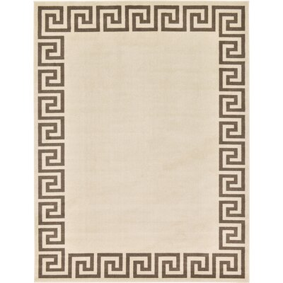 Champney Beige Area Rug Rug Size: 9 x 12
