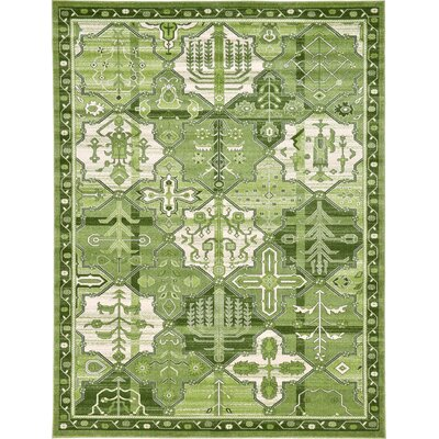 Irma Green Area Rug Rug Size: Rectangle 7 x 10