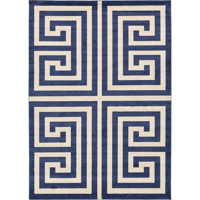Ellery Blue Area Rug Rug Size: 7 x 10