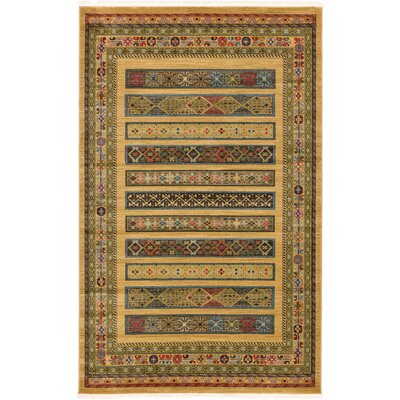 Foret Noire Tan Area Rug Rug Size: 5' x 8'