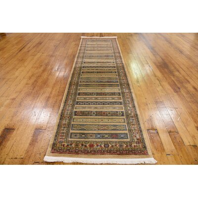 Foret Noire Tan Area Rug Rug Size: Runner 10 x 3