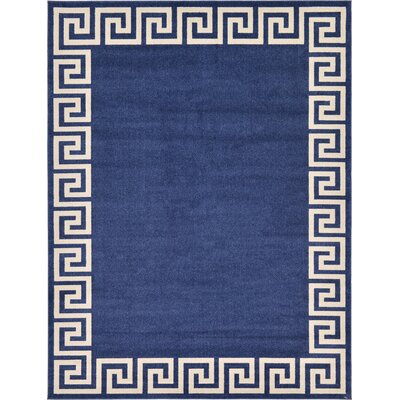 Gedrie Navy Blue Area Rug Rug Size: 9 x 12