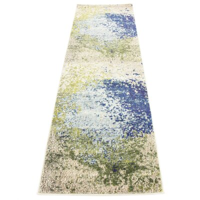 Brister Blue/Green Area Rug Rug Size: Runner 22 x 67