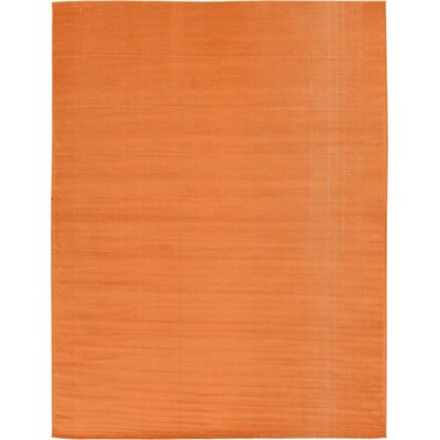 Risley Orange Area Rug Rug Size: 9 x 12