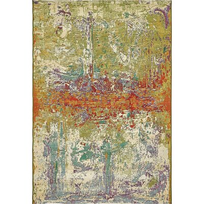 Barone Green Indoor/Outdoor Area Rug Rug Size: Rectangle 53 x 8