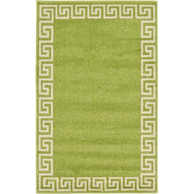 Gedrie Light Green Area Rug Rug Size: 33 x 53