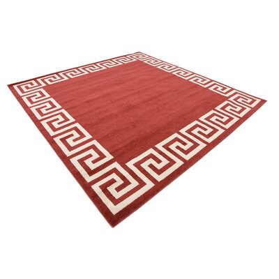Cendrillon Terracotta Area Rug Rug Size: Rectangle 33 x 53