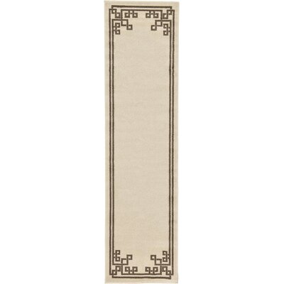 Ellery Rectangle Beige Area Rug Rug Size: Runner 27 x 10