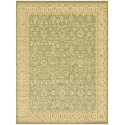 Fonciere Light Green Area Rug Rug Size: Rectangle 33 x 53