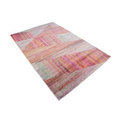 Aristomache Pink Area Rug Rug Size: Rectangle 4 x 6
