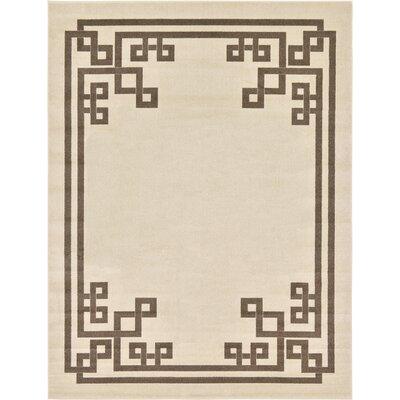 Ellery Rectangle Beige Area Rug Rug Size: Rectangle 9 x 12
