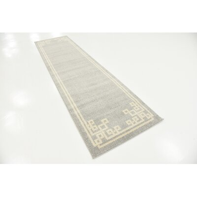 Padstow Gray Area Rug Rug Size: Runner 27 x 10