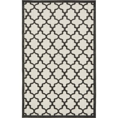 Agapius Black Indoor/Outdoor Area Rug Rug Size: Rectangle 5 x 8