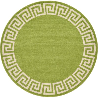 Cendrillon Light Green Area Rug Rug Size: Round 8