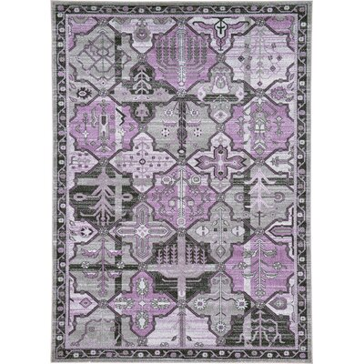 Irma Traditional Purple Area Rug Rug Size: 7 x 10
