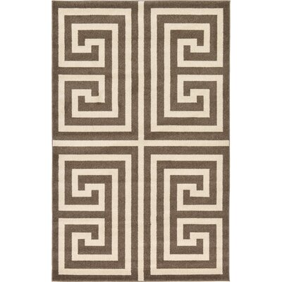 Ellery Brown Area Rug Rug Size: Rectangle 5 x 8