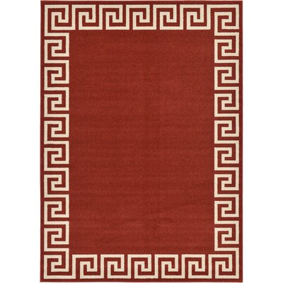Padstow Terracotta Area Rug Rug Size: 7 x 10