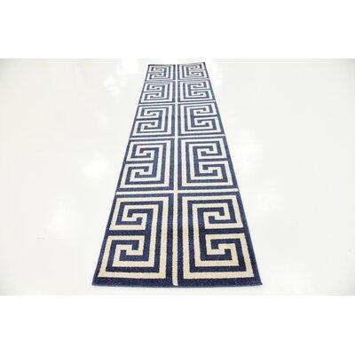 Ellery Blue Area Rug Rug Size: Runner 27 x 10