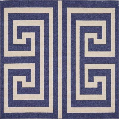 Ellery Blue Area Rug Rug Size: Square 8