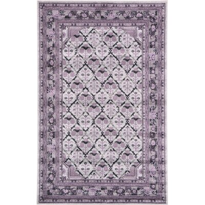 Irma Light Gray Area Rug Rug Size: Square 6